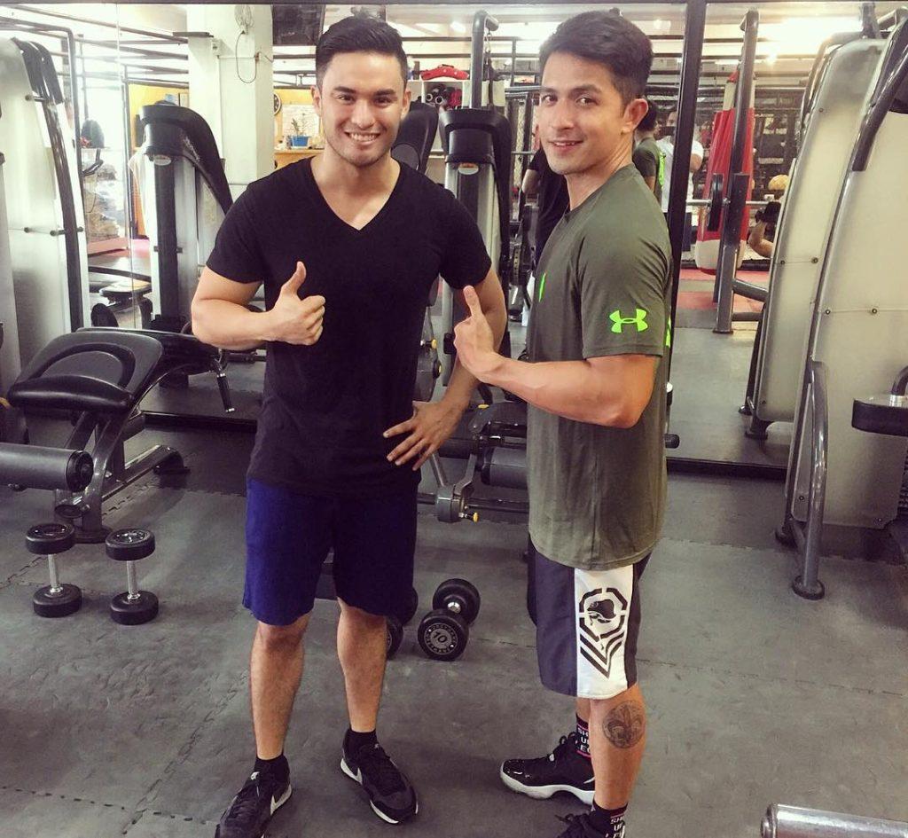 Prince Stefan and Dennis Trillo: gym buddies