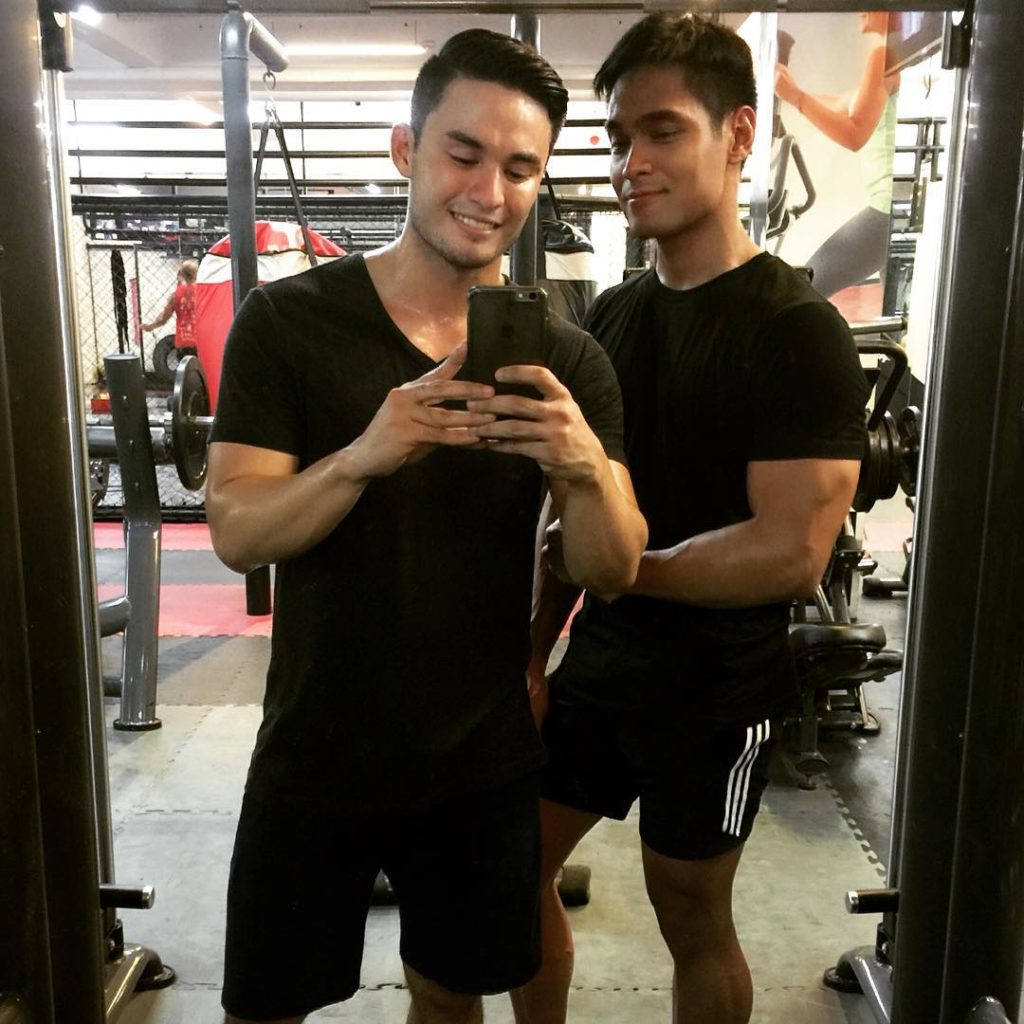 Prince Stefan and Paolo Amores: gym buddies